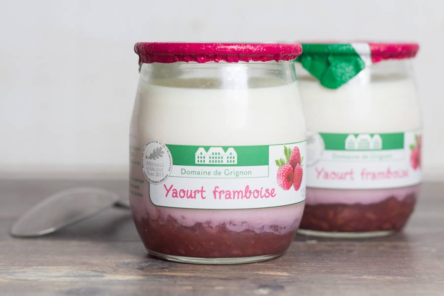 Yaourt framboise - Ferme de Grignon - La Ruche qui dit Oui ! à la maison