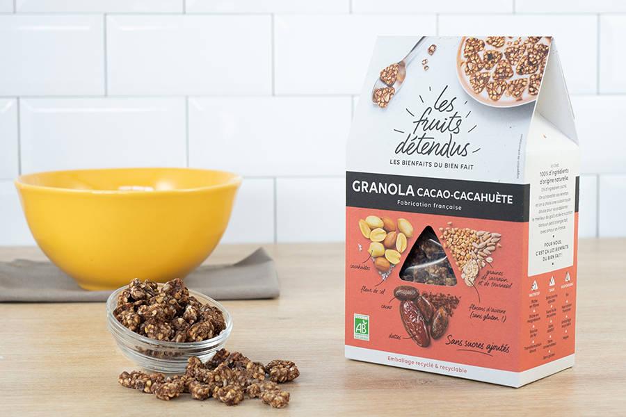 Granola Cacao-Cacahuète BIO - Les Fruits Détendus - La Ruche qui dit Oui ! à la maison
