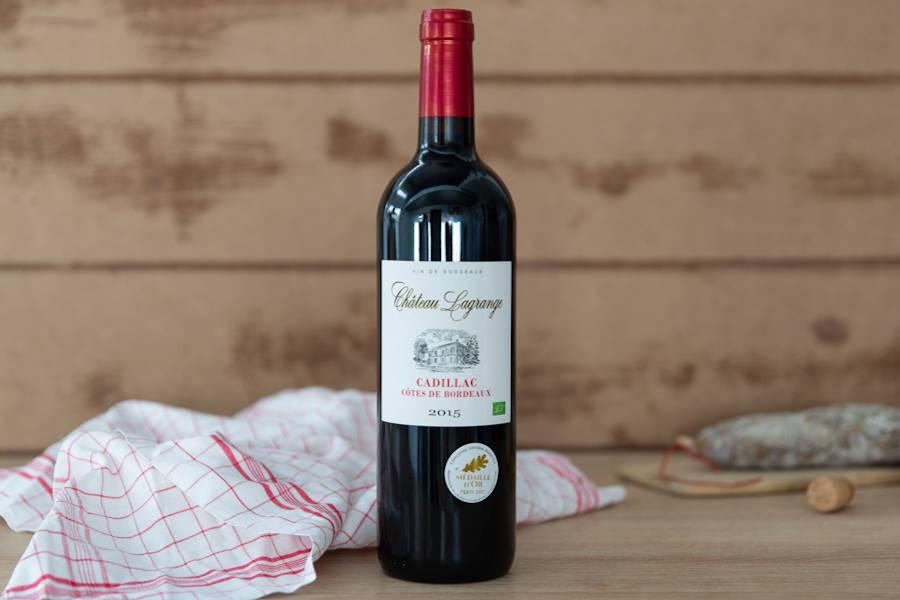 Cadillac Côtes de Bordeaux 2015 BIO - AOP - Château Lagrange - La Ruche qui dit Oui ! à la maison