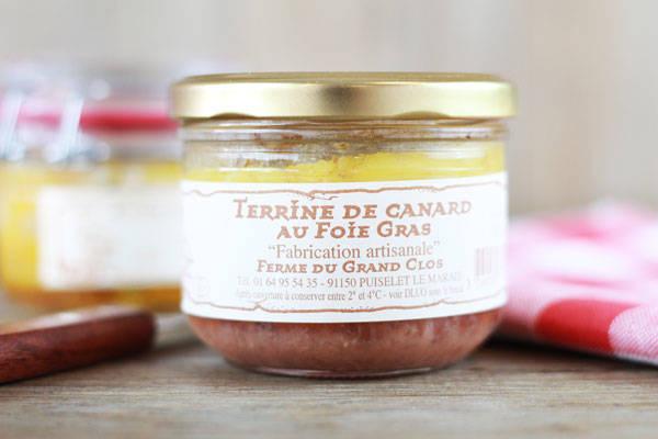 Terrine de canard au foie gras - Ferme du Grand Clos
