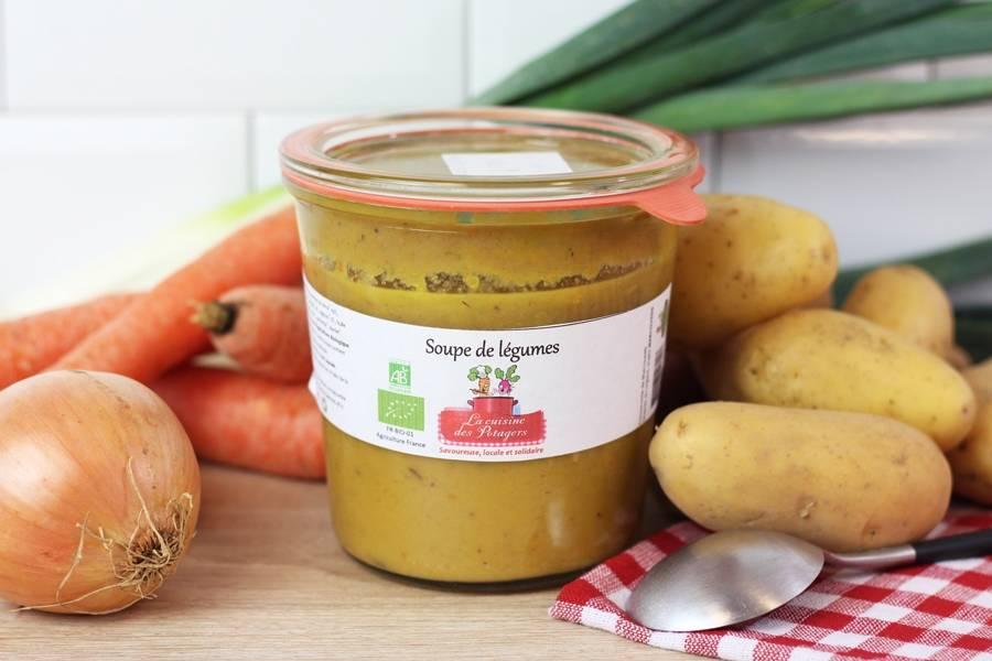 Soupe de légumes BIO - Conserverie coopérative de Marcoussis - La Ruche qui dit Oui ! à la maison