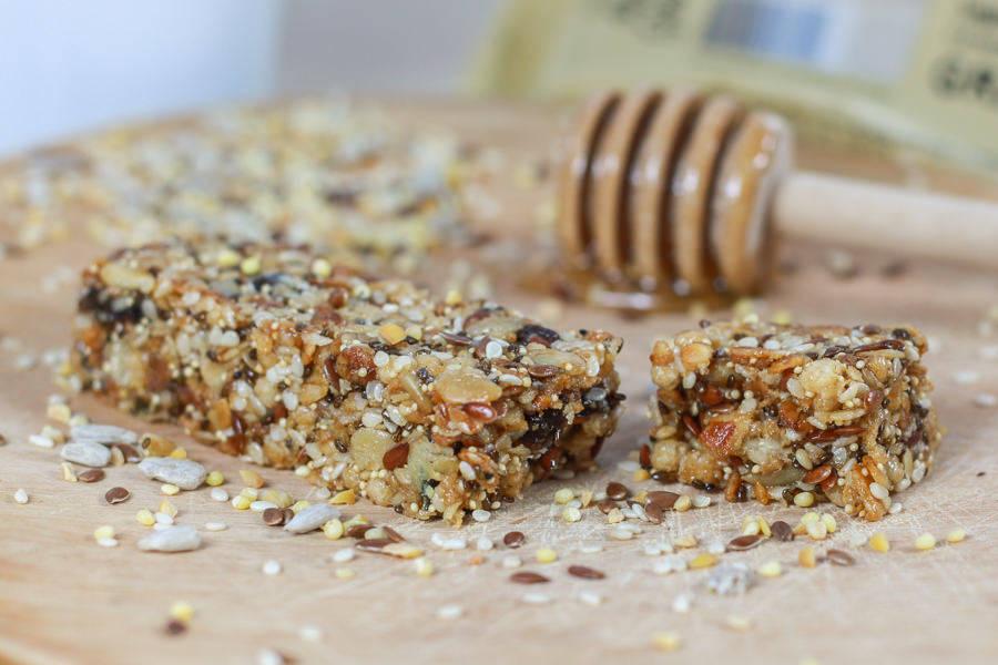 Barre Granola Miel et Graines BIO - Catherine Kluger Granola - La Ruche qui dit Oui ! à la maison
