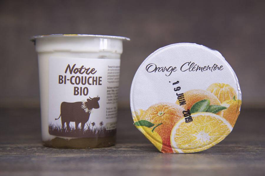 Yaourt bi-couche orange clémentine BIO - La Fromentellerie - La Ruche qui dit Oui ! à la maison