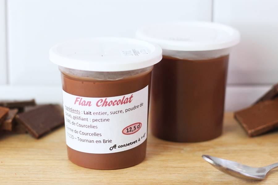 Flan chocolat - Ferme de Courcelles - La Ruche qui dit Oui ! à la maison