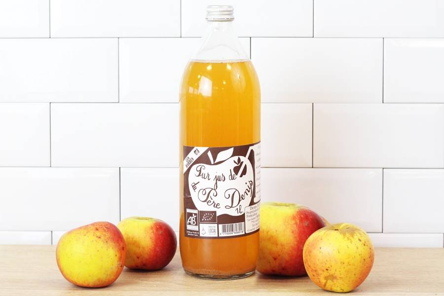 Jus de pomme Les Barrés BIO - Le Père Denis - La Ruche qui dit Oui ! à la maison