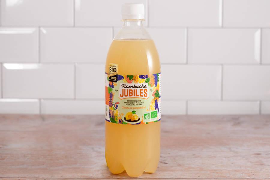 Kombucha thé vert, citron, gingembre BIO - 75 cl - Jubiles - La Ruche qui dit Oui ! à la maison