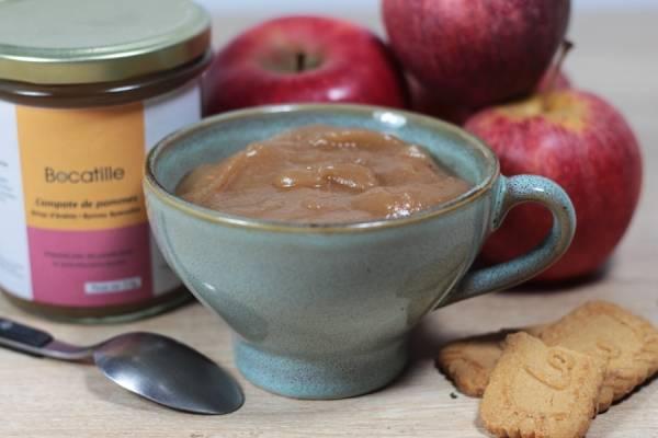 Compote de pomme sirop d'érable et spéculos - Conserverie de Larnière - Le Comptoir Local