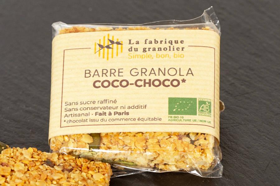 Barre Coco Choco BIO - La Fabrique du Granolier - La Ruche qui dit Oui ! à la maison