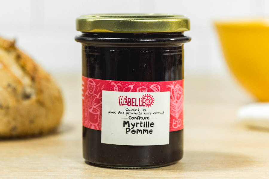 Confiture Myrtille Pomme - Re-Belle - La Ruche qui dit Oui ! à la maison