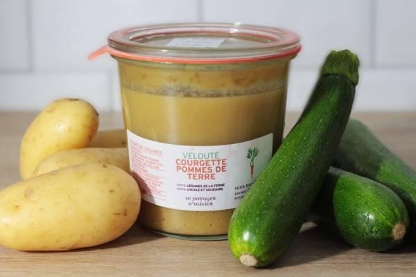 Velouté Courgette Pomme de Terre - Le Potager d'Olivier - Le Comptoir Local