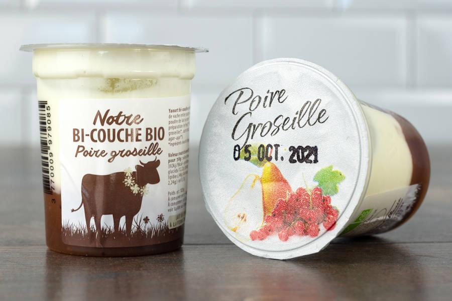 Yaourt bi-couche poire groseille BIO - La Fromentellerie - La Ruche qui dit Oui ! à la maison