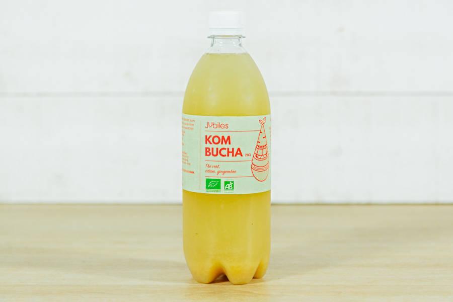 Kombucha thé vert, citron, gingembre 75cl - Jubiles - La Ruche qui dit Oui ! à la maison