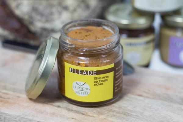 Oléade olives vertes aux tomates séchées - Le rocher des fées - Le Comptoir Local