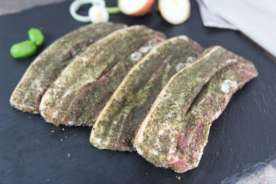 Poitrine de porc marinée - Ferme de Moneuse - La Ruche qui dit Oui ! à la maison
