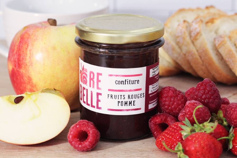 Confiture fruits rouges pommes - Re-Belle - La Ruche qui dit Oui ! à la maison