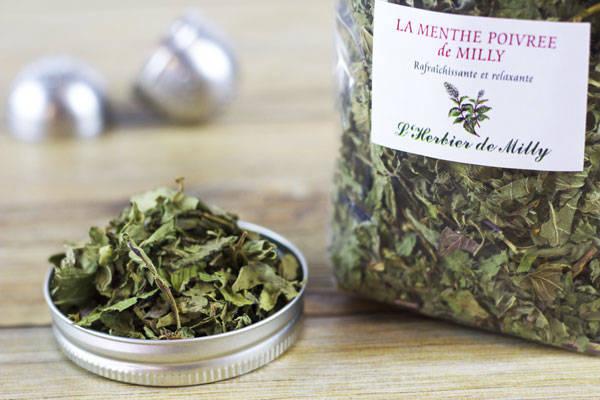 Tisane menthe poivrée de Milly - L'Herbier de Milly - Le Comptoir Local