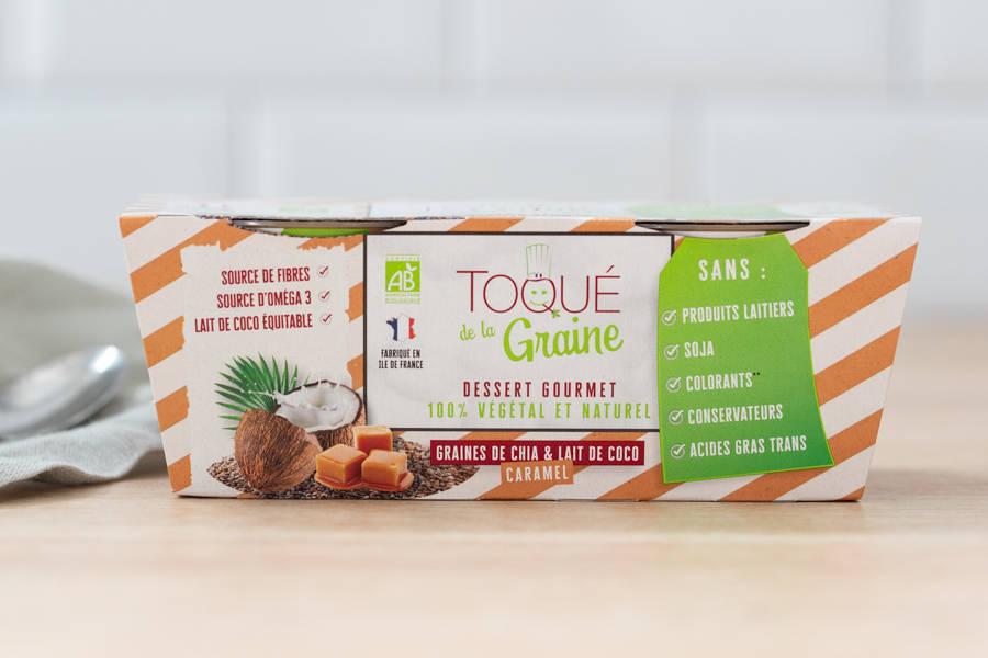 Dessert onctueux 100% végétal CARAMEL BIO x2 - Toqué de la Graine - La Ruche qui dit Oui ! à la maison