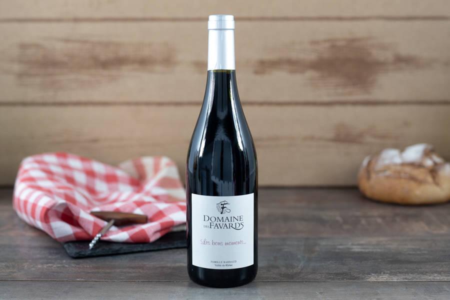 Les bons moments 2019 BIO - AOP Côtes du Rhône - Domaine des Favards - La Ruche qui dit Oui ! à la maison
