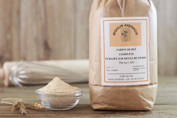 Farine de blé complète 1Kg - Huilerie Avernoise