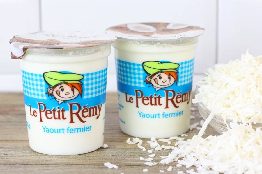 Yaourt fermier à la noix coco - Ferme du petit Rémy - La Ruche qui dit Oui ! à la maison