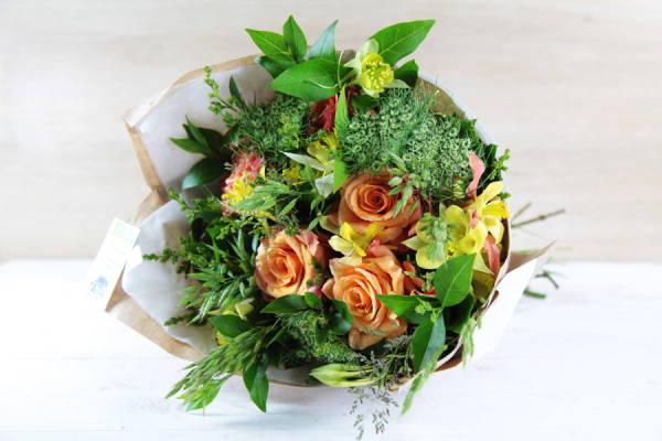 Petit bouquet jaune-orange BIO - Fleurs de Cocagne