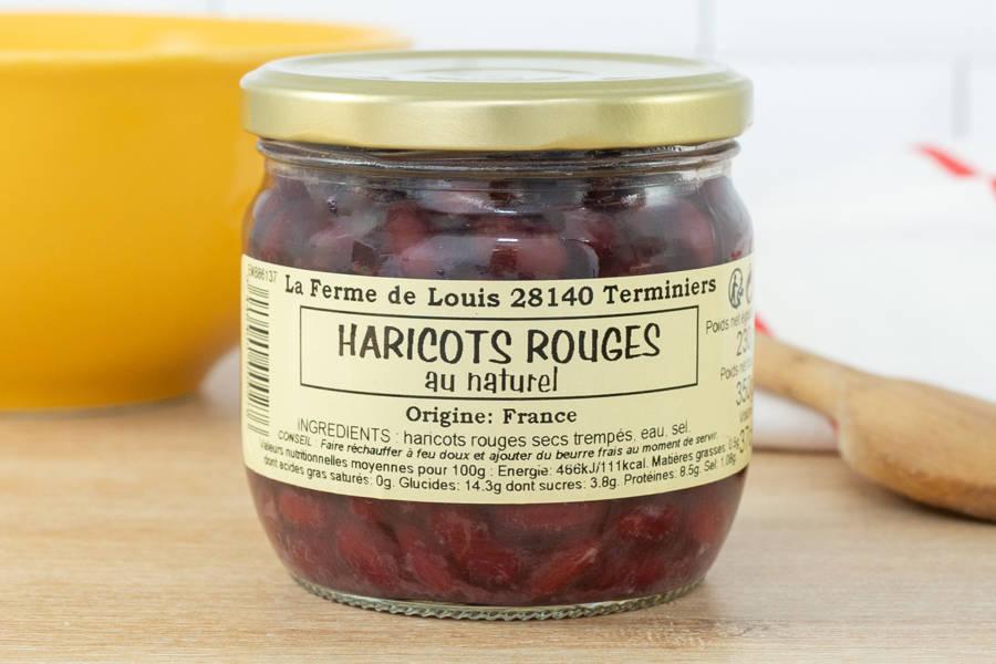 Bocal de haricots rouges - Ferme de Louis - La Ruche qui dit Oui ! à la maison