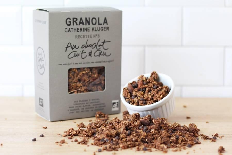 Granola Chocolat Noir et Pépites BIO - Catherine Kluger Granola - La Ruche qui dit Oui ! à la maison