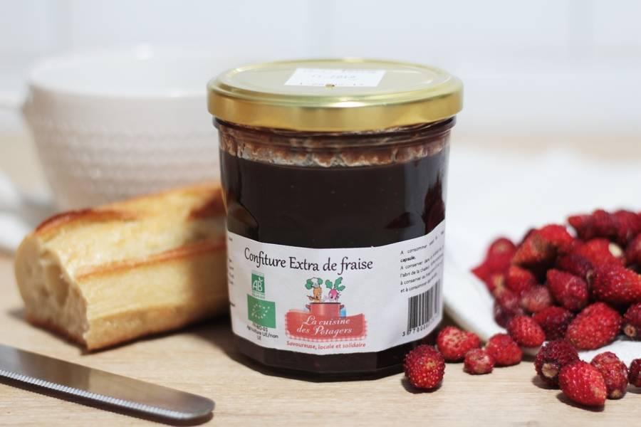 Confiture extra de fraise BIO - Conserverie coopérative de Marcoussis - La Ruche qui dit Oui ! à la maison