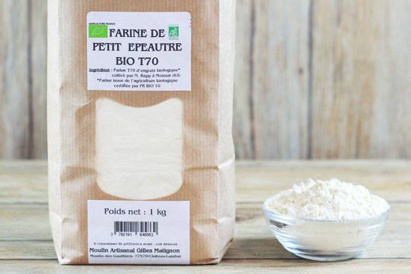 Farine de petit épeautre BIO T70 - Moulin artisanal Gilles Matignon