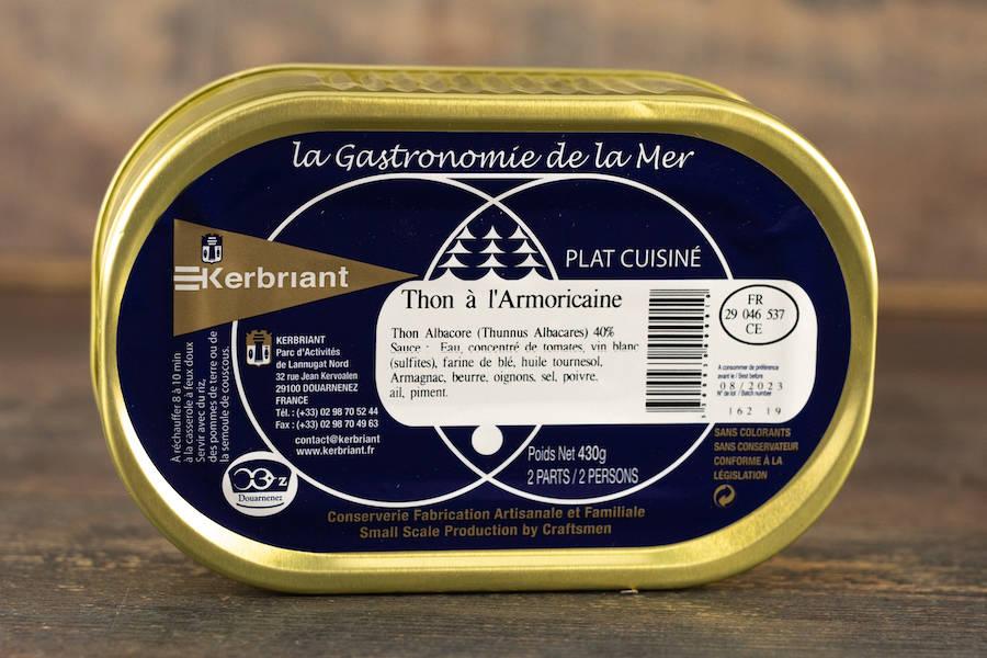"""Plat cuisiné """"Thon à l'Armoricaine"""" - Conserverie artisanale Kerbriant - La Ruche qui dit Oui ! à la maison"""