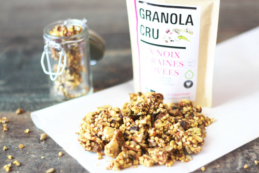 granola cru bio 50g happy crulture le comptoir local. Black Bedroom Furniture Sets. Home Design Ideas