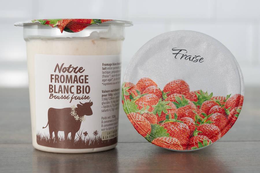 Fromage blanc brassé fraise BIO - La Fromentellerie - La Ruche qui dit Oui ! à la maison