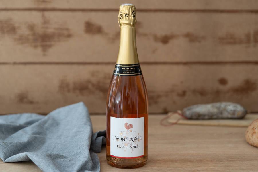 Divine Tradition rose - AOP Clairette de Die - Domaine Poulet & Fils - La Ruche qui dit Oui ! à la maison