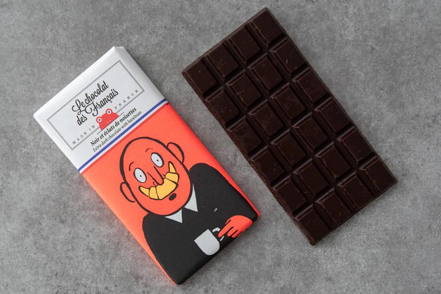 Chocolat noir & noisettes - Croissant BIO - Le Chocolat des Français - La Ruche qui dit Oui ! à la maison