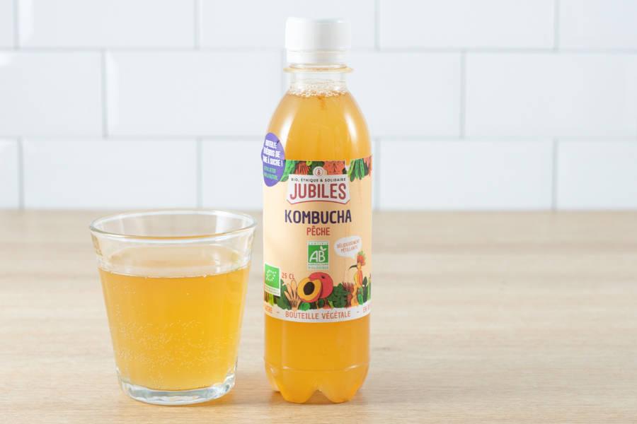 Kombuchas thé noir pêche BIO - 25cL - Jubiles - La Ruche qui dit Oui ! à la maison
