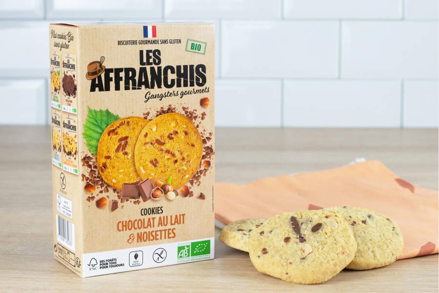 Cookies sans gluten chocolat au lait et noisettes BIO - Les Affranchis - La Ruche qui dit Oui ! à la maison