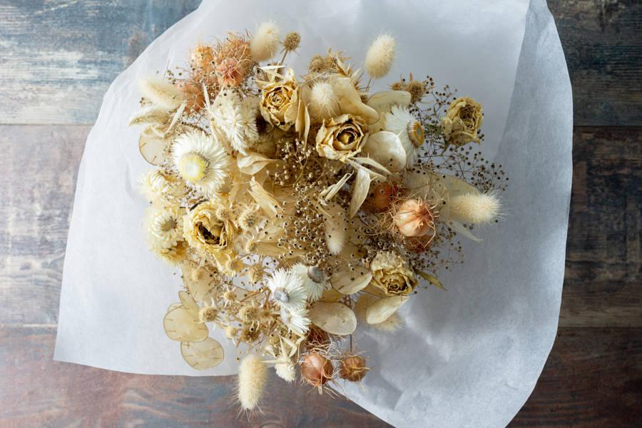 Bouquet de fleurs séchées - Couleurs naturelles - Fleurs de Cocagne - La Ruche qui dit Oui ! à la maison