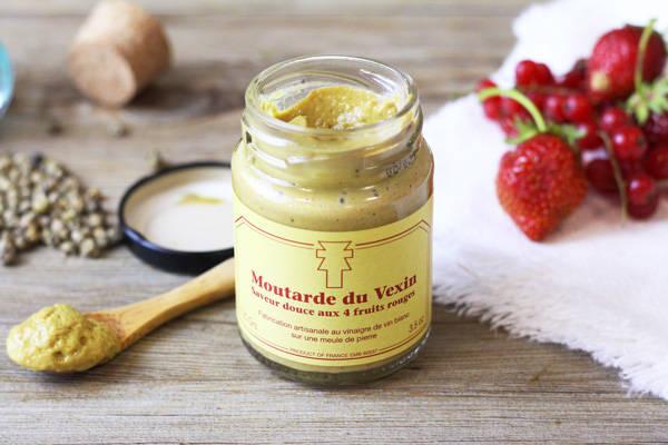 Moutarde aux 4 fruits rouges - Ferme de la Distillerie