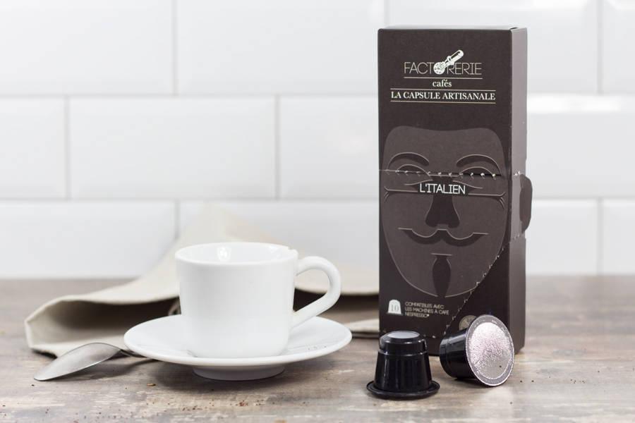 Italien capsules - Cafés Factorerie - La Ruche qui dit Oui ! à la maison