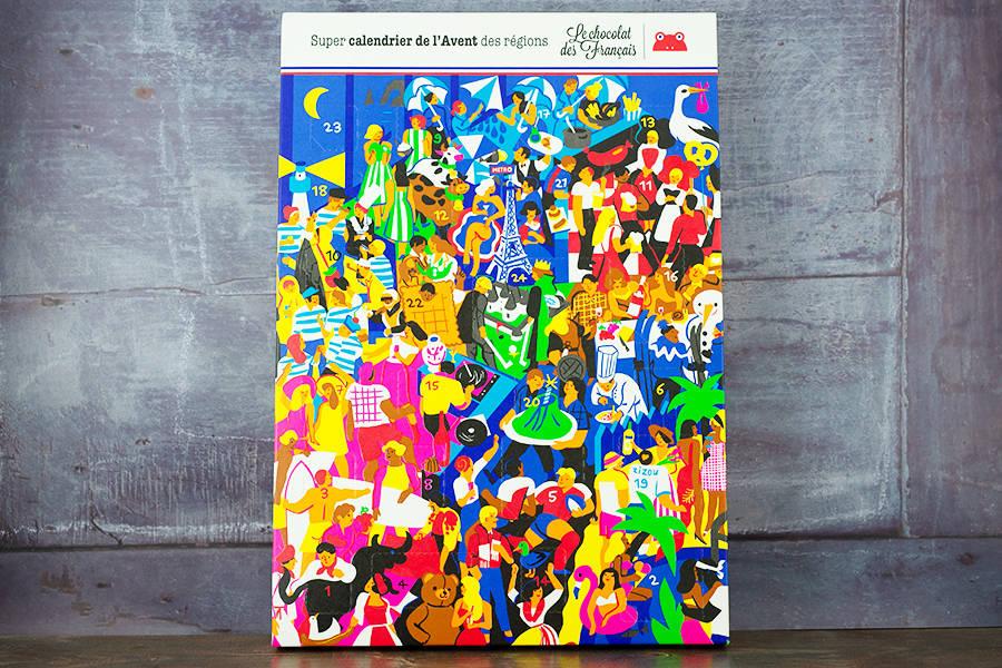 Maxi calendrier de l'Avent - Le Chocolat des Français - La Ruche qui dit Oui ! à la maison