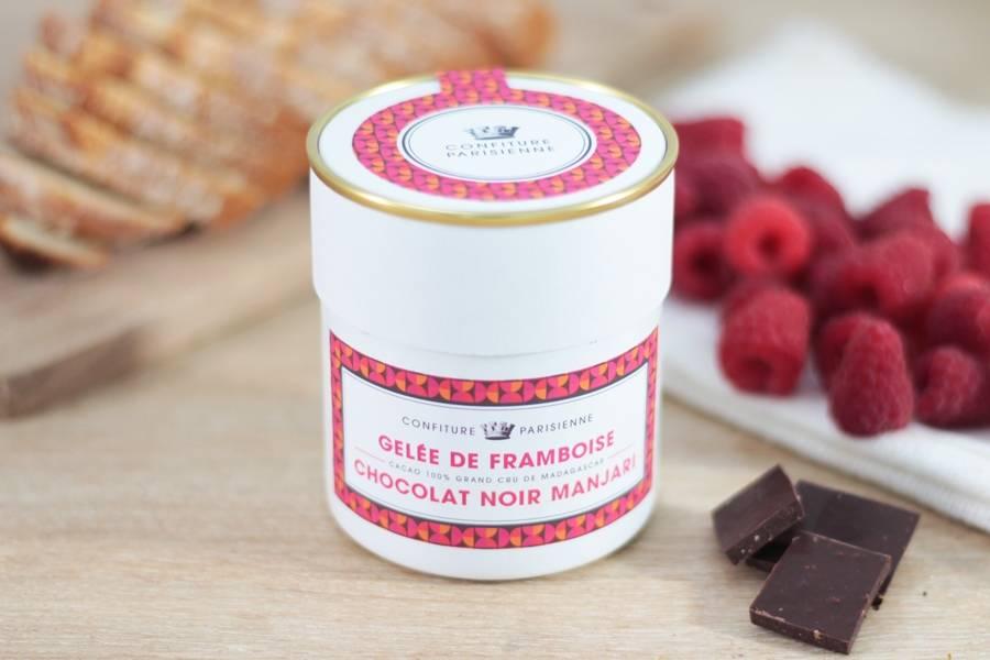 Gelée de framboise et chocolat noir manjari - Les Confitures Parisiennes - La Ruche qui dit Oui ! à la maison