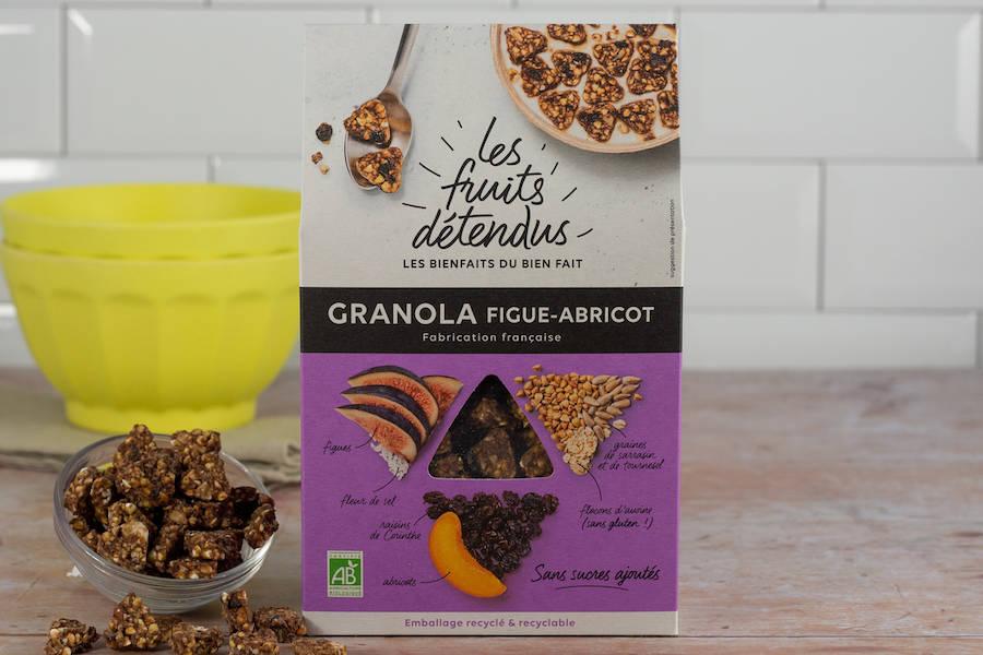 Granola Figue-Abricot BIO - Les Fruits Détendus - La Ruche qui dit Oui ! à la maison