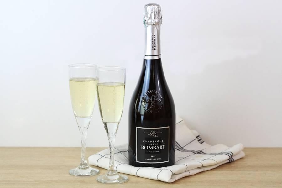 Champagne Le Millésime 2012 - Champagne Hervé Bombart - La Ruche qui dit Oui ! à la maison