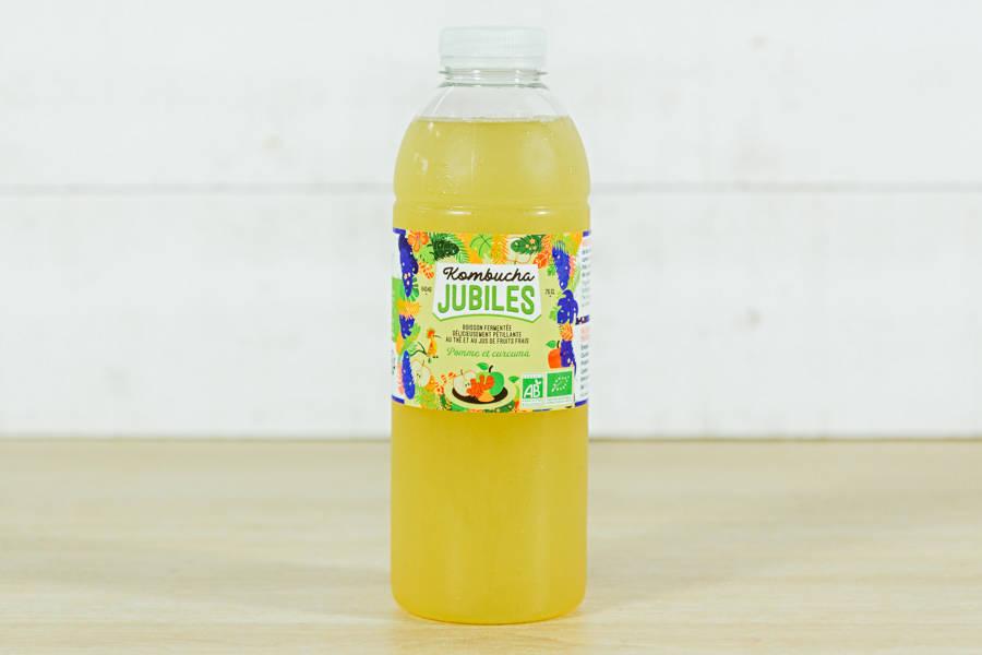 Kombucha thé vert, pomme, curcuma - 75cl - Jubiles - La Ruche qui dit Oui ! à la maison