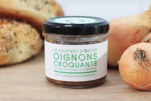 Chutney d'oignons croquants, pommes & graines de coriandre - By Oscar