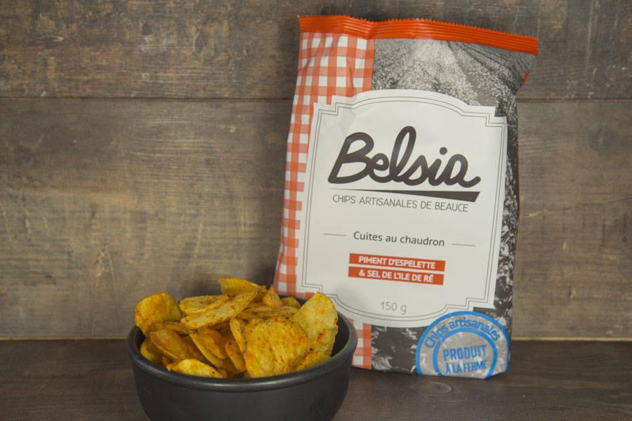 Chips artisanales au piment d'Espelette - Belsia - Ferme de Létourville - La Ruche qui dit Oui ! à la maison