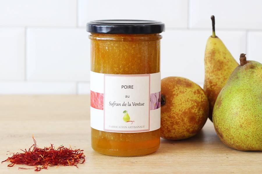 Confiture poire safran - Ferme de la Ventue - La Ruche qui dit Oui ! à la maison