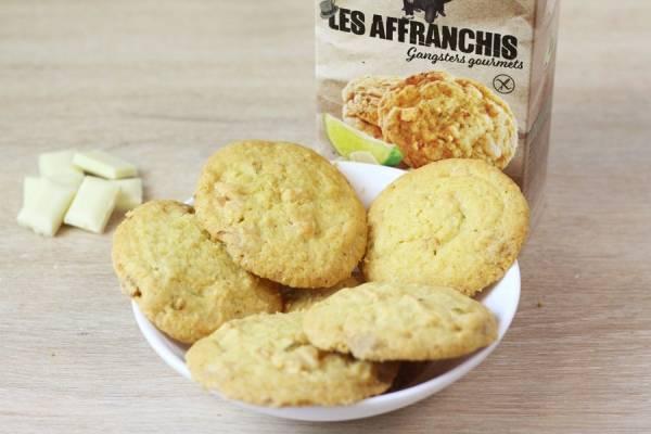 Cookies sans gluten chocolat blanc et citron vert caramélisé - Les Affranchis