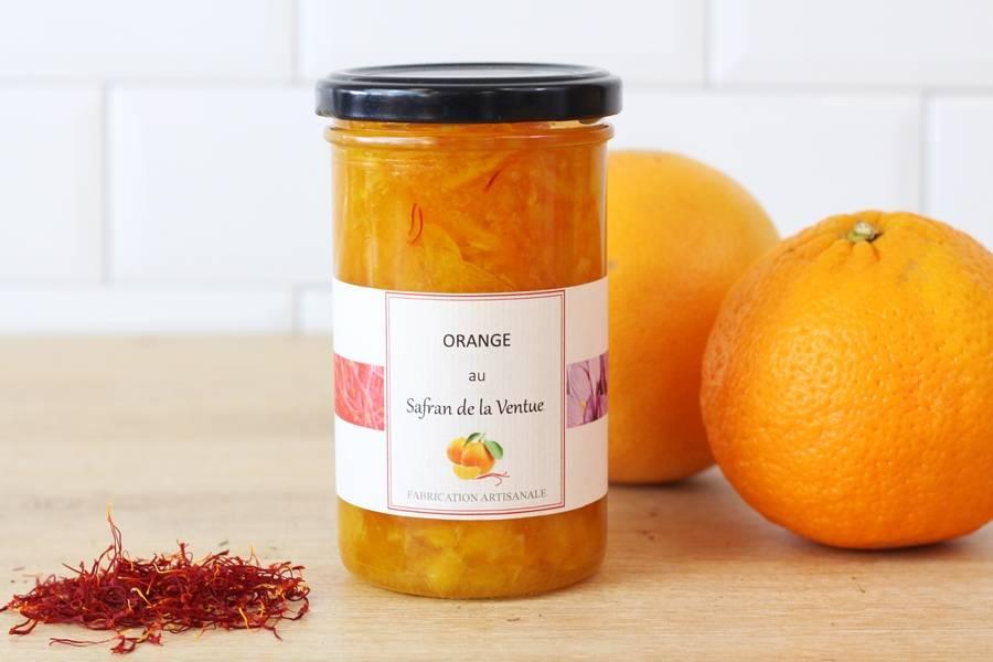 Confiture orange safran - Ferme de la Ventue - La Ruche qui dit Oui ! à la maison