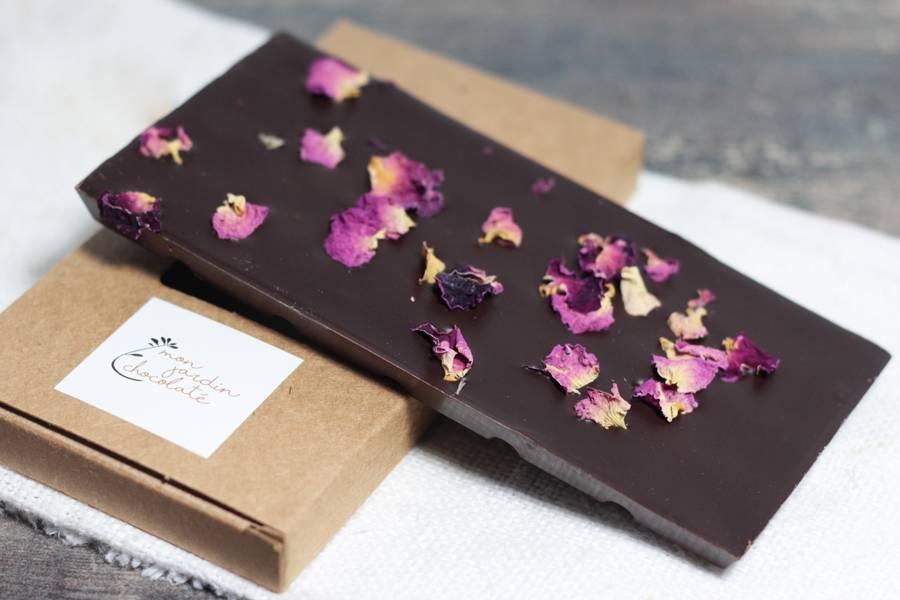 Tablette aux fleurs BIO - Mon Jardin Chocolaté - La Ruche qui dit Oui ! à la maison